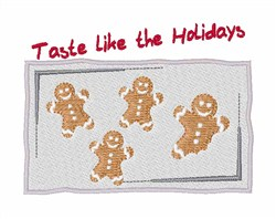 Taste Like The Holidays embroidery design