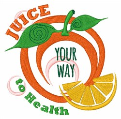 Juice To Health embroidery design