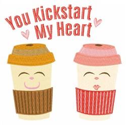 You Kickstart My Heart embroidery design
