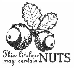 Kitchen May Contain Nuts embroidery design