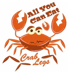 All You Can Eat embroidery design