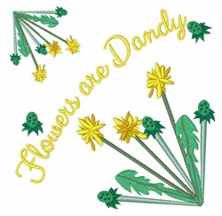 Flowers Are Dandy embroidery design