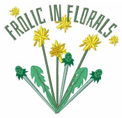 Frolic In Florals embroidery design