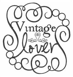 Vintage Lover embroidery design