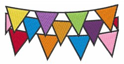 Party Streamers embroidery design