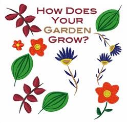 Garden Flowers embroidery design
