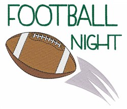 Football Night embroidery design