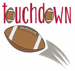 Touchdown Football embroidery design