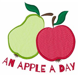 Apple A Day embroidery design