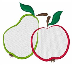 Pear & Apple embroidery design