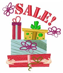 Gifts Sale embroidery design