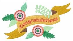 Congratulations Banner embroidery design