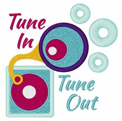 Tune In embroidery design