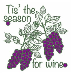 Wine Season embroidery design
