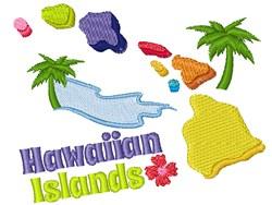 Hawaiin Islands embroidery design