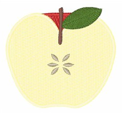 Apple Half embroidery design