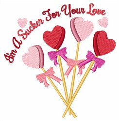 Sucker For You embroidery design