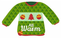 Warm Holiday Sweater embroidery design