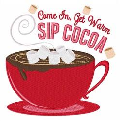 Sip Cocoa embroidery design