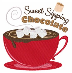 Sweet Sipping Chocolate embroidery design