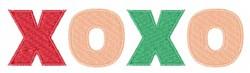 XOXO Valentine embroidery design