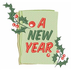 A New Year embroidery design
