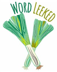 Word Leeked embroidery design