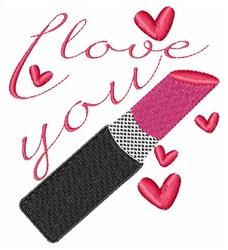 Love You Lipstick embroidery design