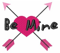 Be Mine Arrows embroidery design
