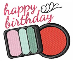 Happy Birthday Makeup embroidery design
