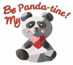 Be My Panda-tine embroidery design