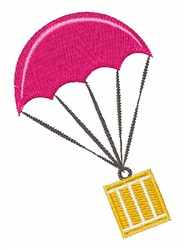 Parachute Crate embroidery design