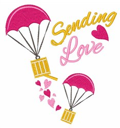 Sending Love embroidery design