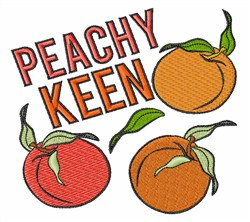 Peachy Keen embroidery design