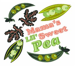 Lil Sweet Pea embroidery design
