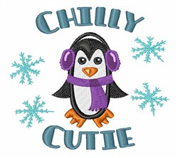 Chilly Cutie embroidery design