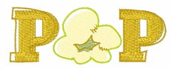 Pop Corn embroidery design
