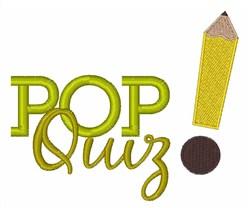 Pop Quiz embroidery design