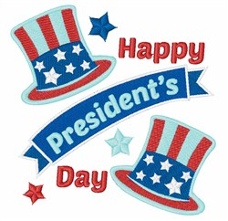 Happy Presidents Day embroidery design