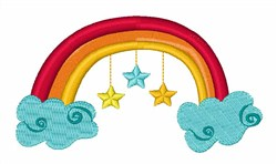 Rainbow & Stars embroidery design