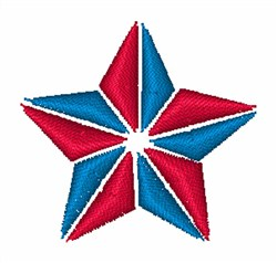 Patriotic Star embroidery design