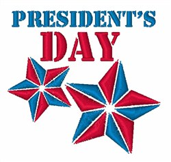 Presidents Day embroidery design