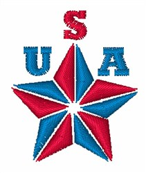 USA Star embroidery design
