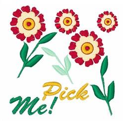 Pick Me! embroidery design