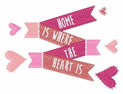 Where The Heart Is embroidery design