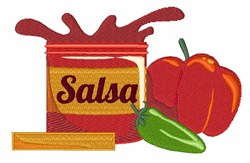 Salsa embroidery design