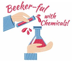 Beeker-ful With Chemicals embroidery design