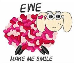 Ewe Make Me Smile embroidery design