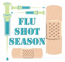 Flu Shot Season embroidery design