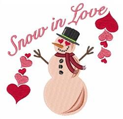Snow In Love embroidery design